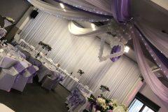 Décoration salle de mariage parme Aux Deux Colombes